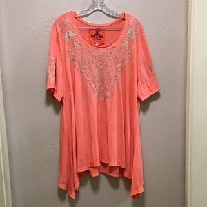 Johnny Was Embroidered Top size 3X